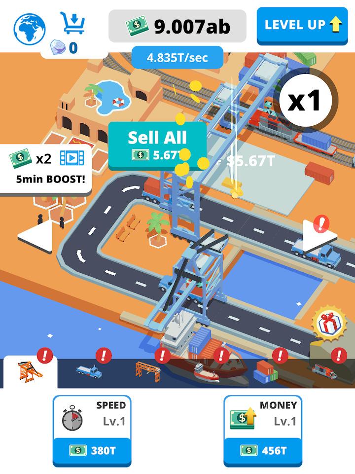 Idle Port Tycoon Mod Apk